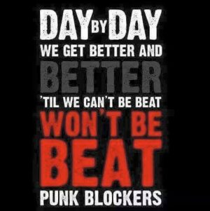 punk blocker chant